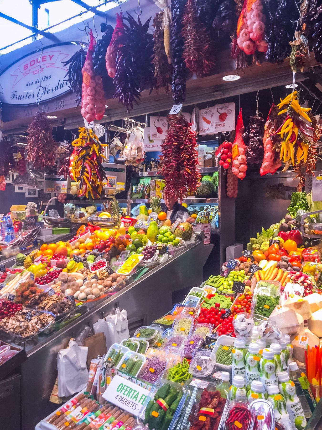 La Boqueria i Barcelona