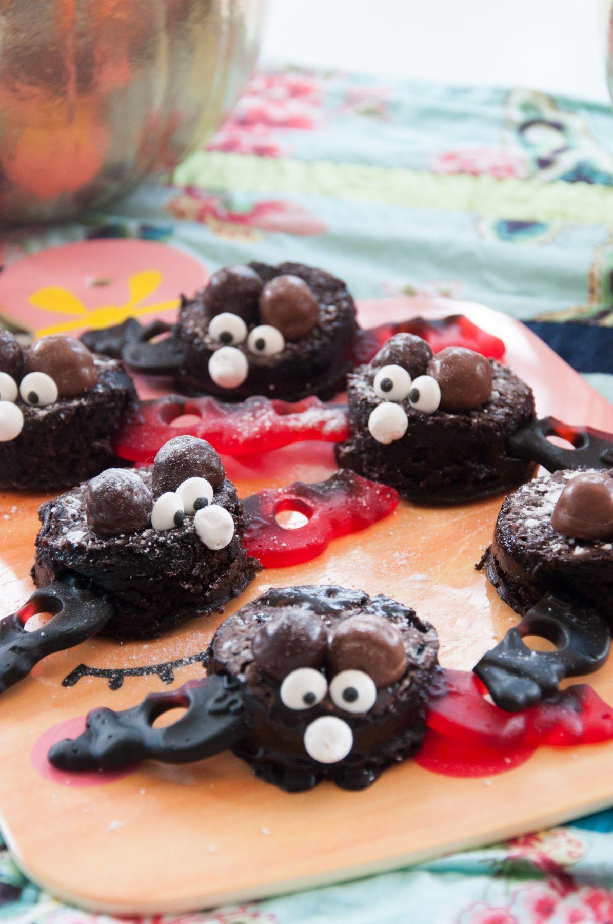 Fladdermöss av kladdkaka och godis