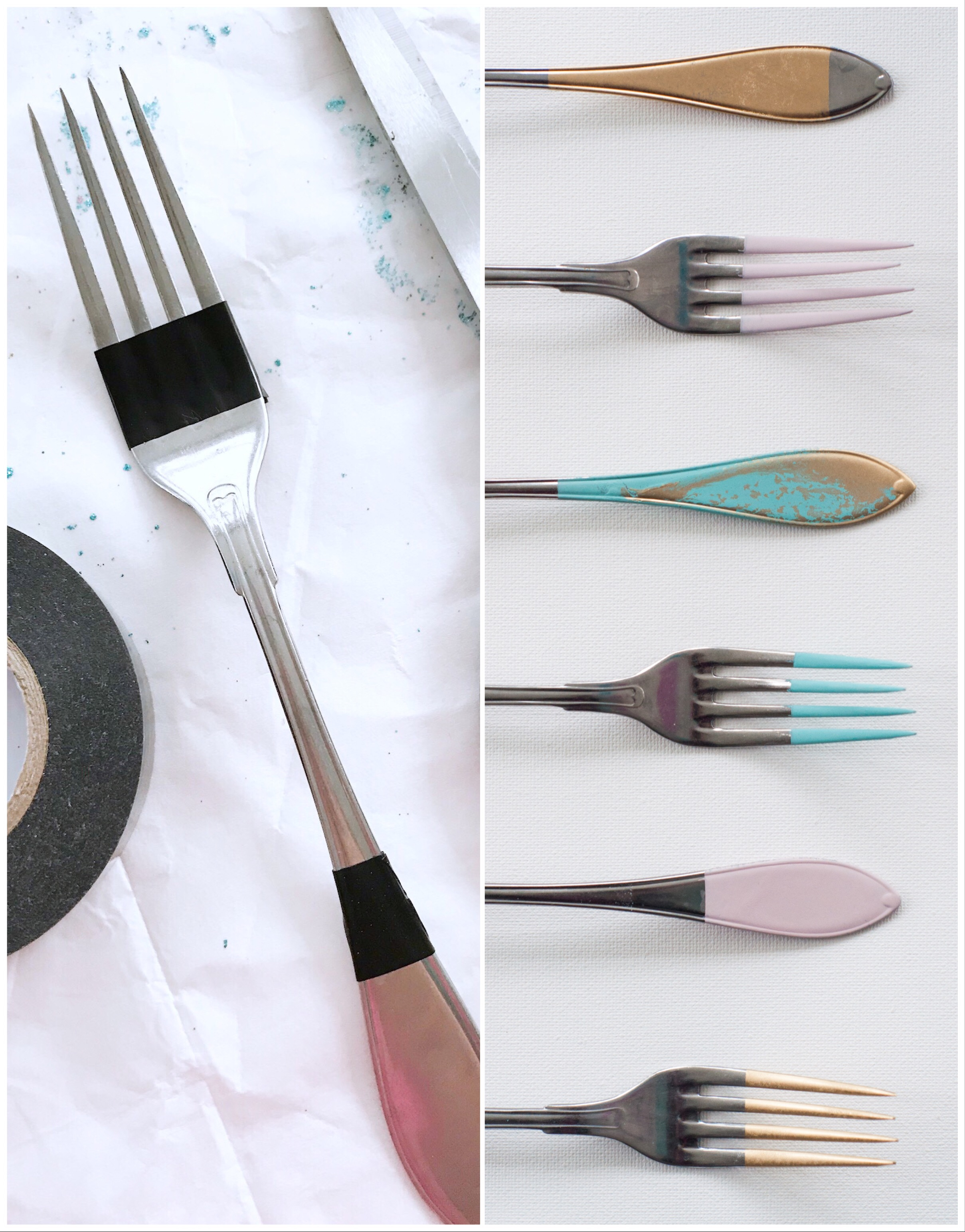 How to Paint Cutlery Fröken Turkos / Miss Turquoise