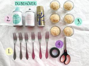 How to Paint Cutlery Fröken Turkos / Miss Turquoise