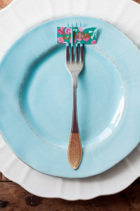 DIY How to Paint Cutlery Fröken Turkos / Miss Turquoise