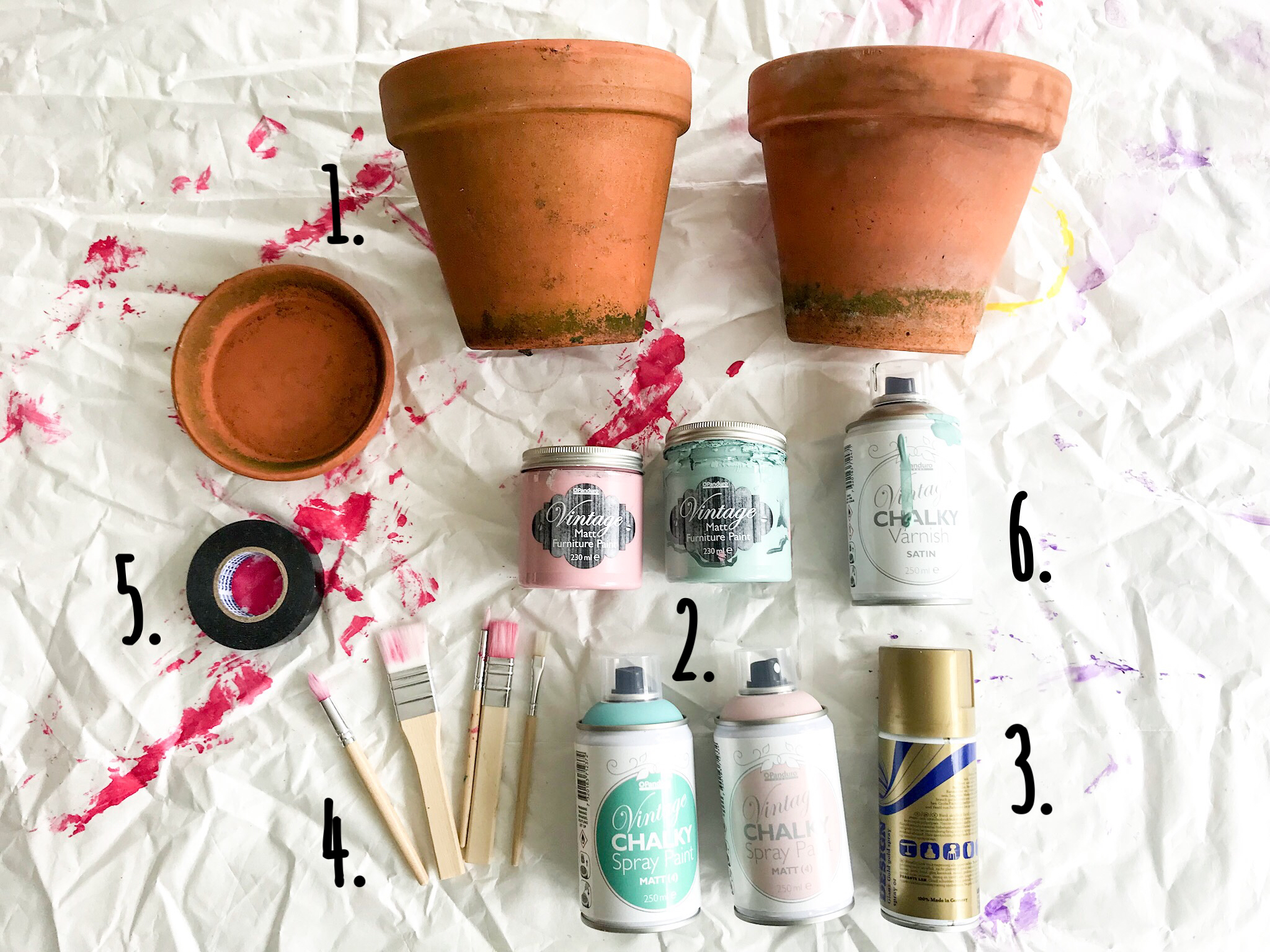 How to Paint Terracotta Pots - Fröken Turkos / Miss Turquoise