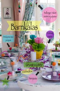 Birthday party by Fröken Turkos- Miss Turquoise