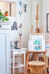 Creative small art space - Leonor Juhl K Fröken Turkos/Miss Turquoise