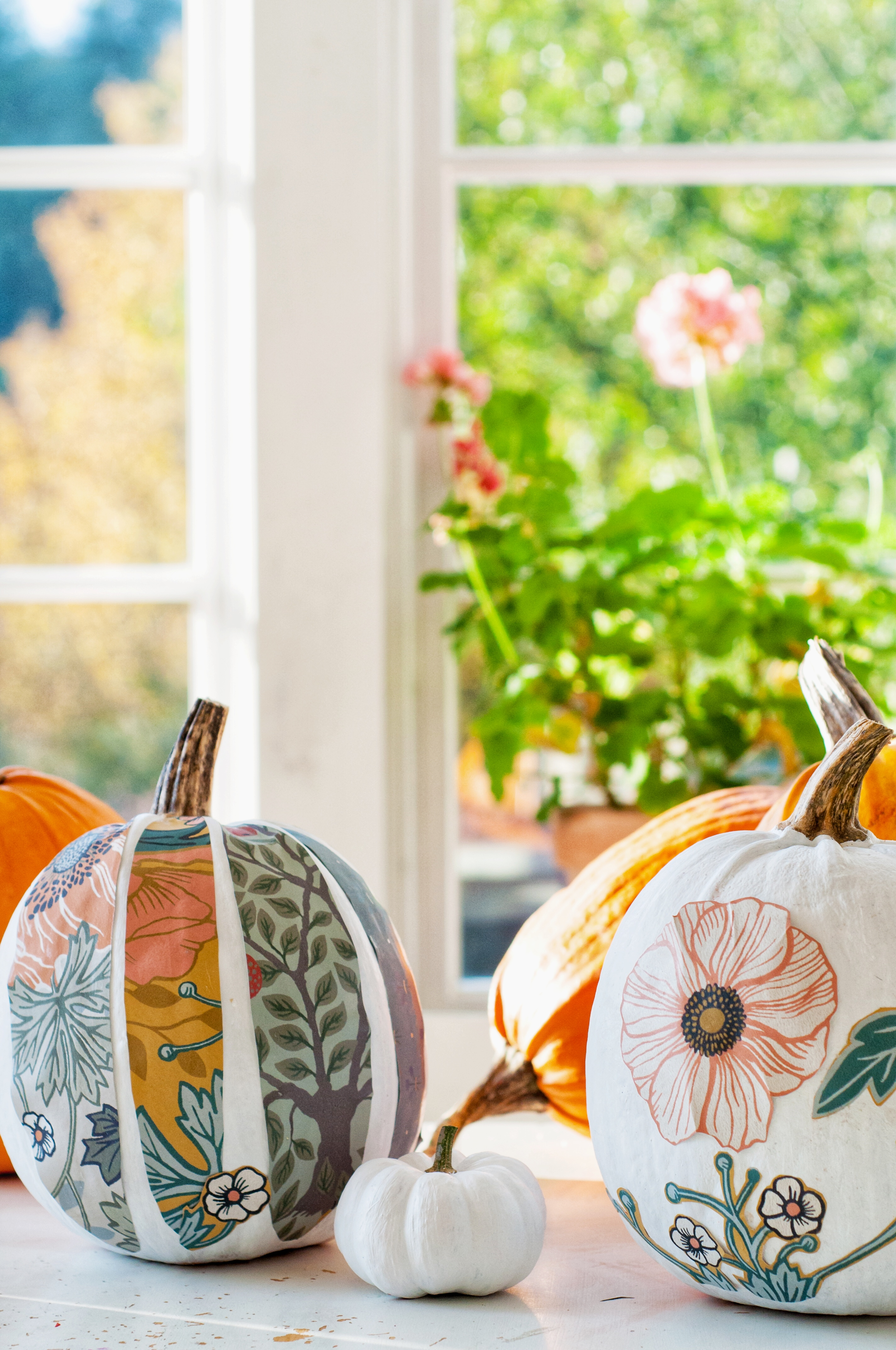 Höstpyssel - Painting pumpkin by Fröken Turkos/Miss Turquoise