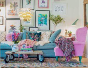 My livingroom - By Fröken Turkos, Miss Turquoise