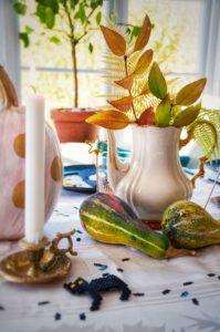 Painted pumpkins for Halloween - By Fröken Turkos/Miss Turquoise