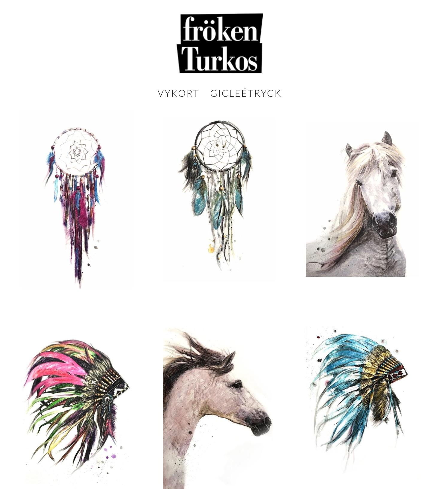 Fröken Turkos - Miss Turquoise webshop - Art