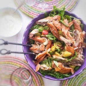 Sommarmat – Potatissallad med varmrökt makrill