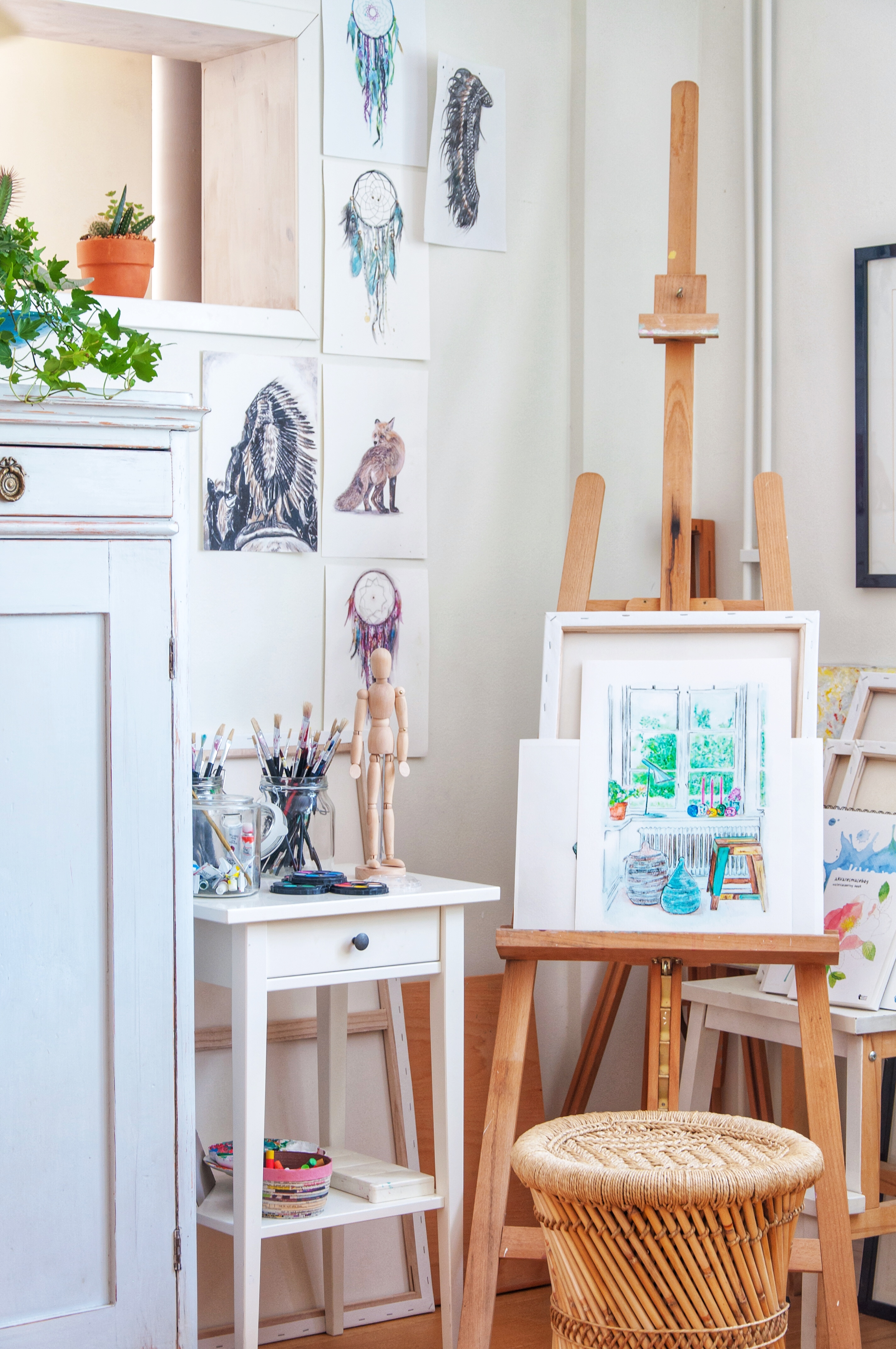 Creative small art space - Leonor Juhl K Fröken Turkos/Miss Turquoise