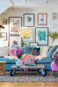 Sneak peek från vårt vardagsrum och mina 7 bästa tips på hur du färgsätter hemma