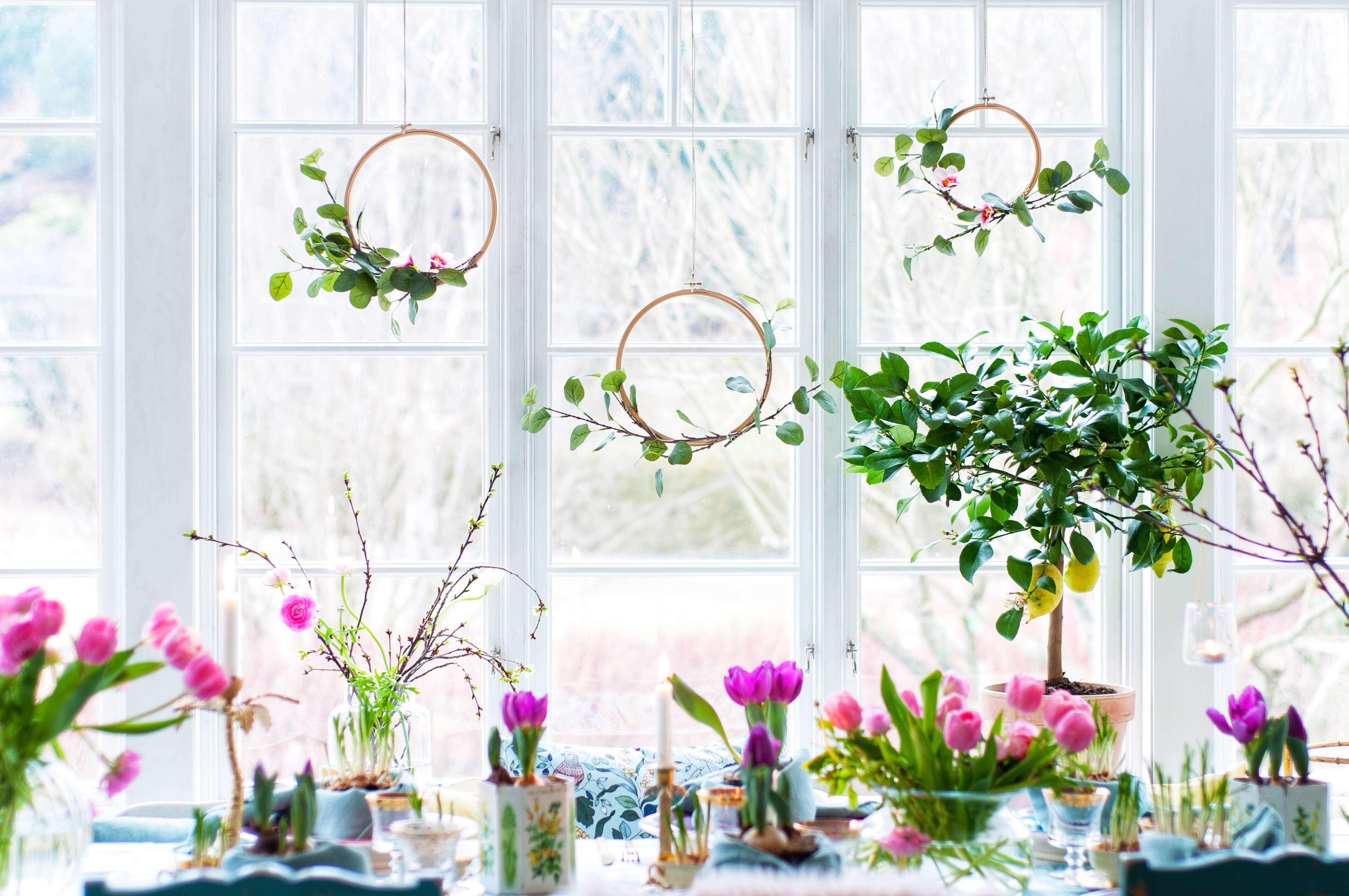 DIY - Blomsterkrans av Fröken Turkos