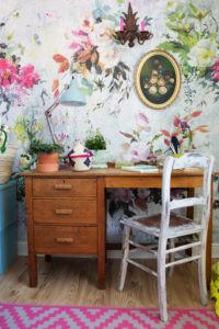 Designers Guild Aubriet Tapet - blommiga tapeter - Fröken Turkos