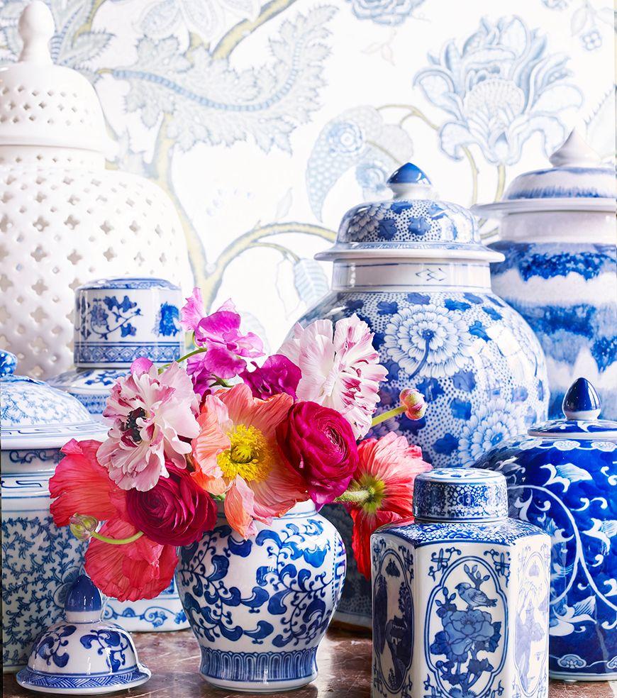 Blått och vitt porslin - Fröken Turkos