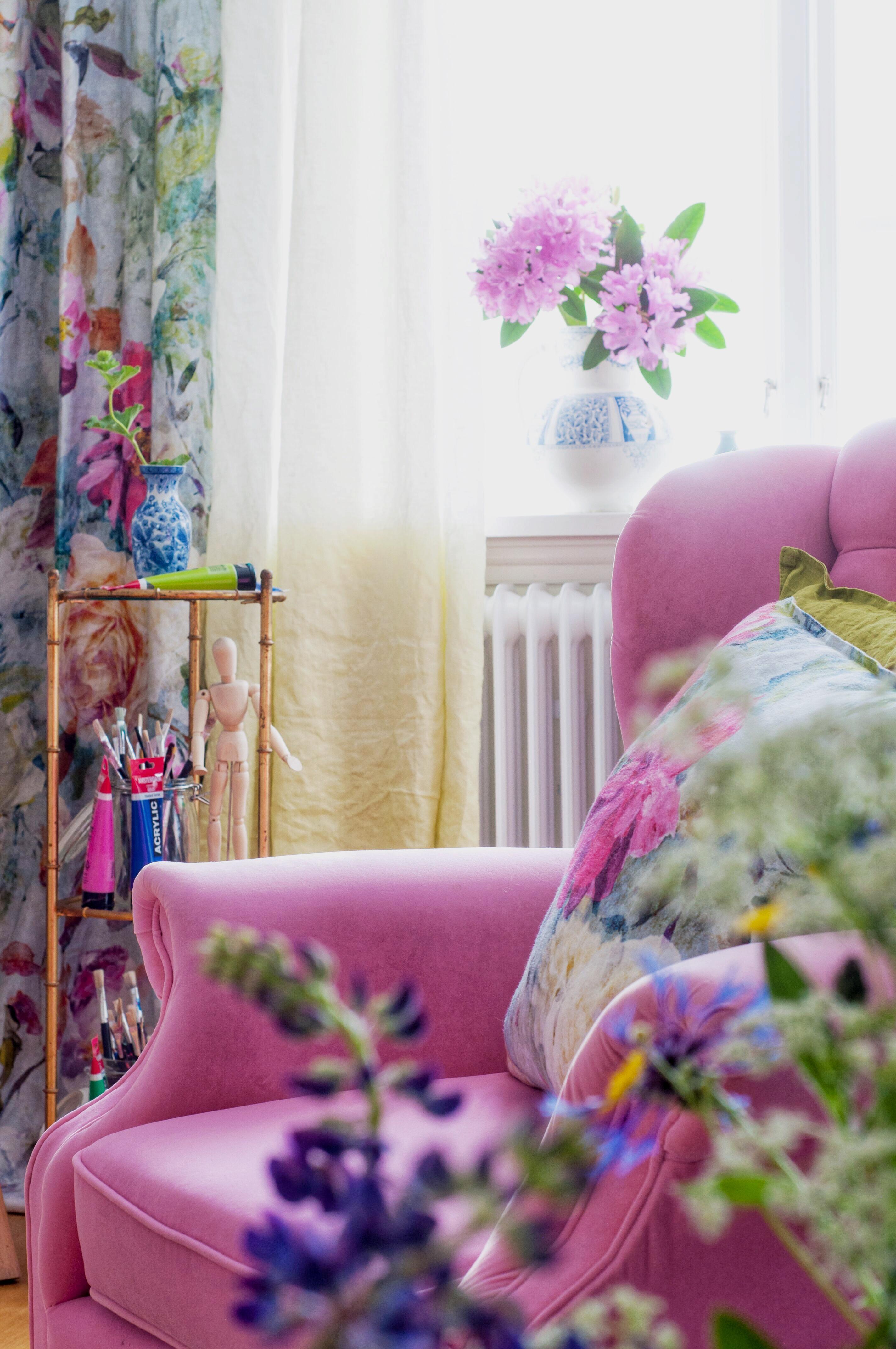 Tyg Marianne och Sirielle från Designers Guild - Fröken Turkos, Leonor Juhl K