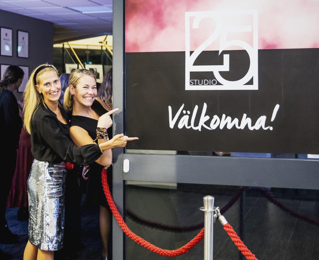 Det kvinnliga nätverket Studio25 - Viktoria Hallenius medarbetare Karin Hallin och Maria Jobe