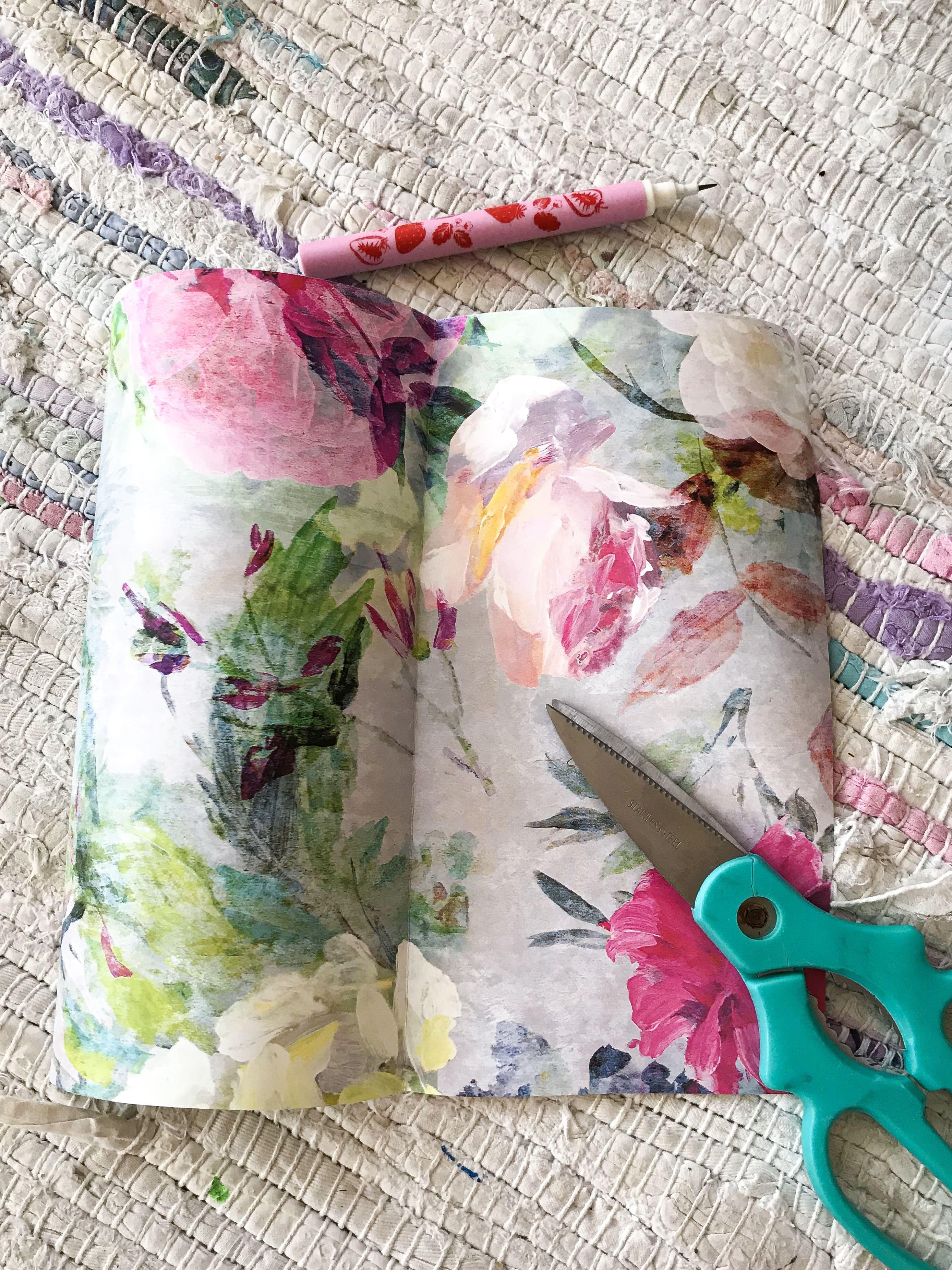Måla pumpa och pimpa med tapet från Designers Guild - Leonor Juhl K / Fröken Turkos, Miss Turquoise