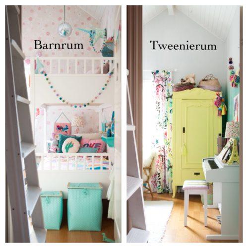 Från barnrum till tweenierum